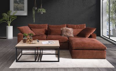 Lazy A-N-A-B1 corner sofa with chaiselong