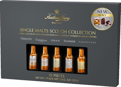 Anthon Berg Chocolate Liqueur Single Malts 230g