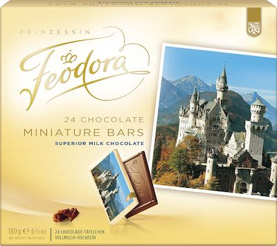 Feodora 24 Miniature Chocolate bars 180g