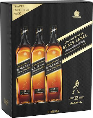 Johnnie Walker Black Triple 3x100 cl. - Alc. 40% Vol.