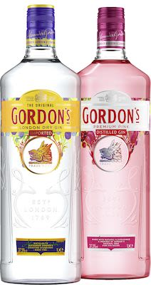 Gordons Twin Pack 1 Dry + 1 Pink 2x100 cl. - Alc. 37,5% Vol.