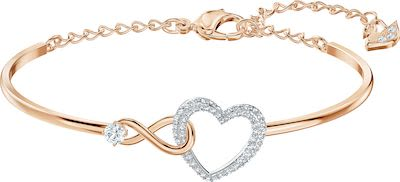 Swarovski Infinity Heart Bangle