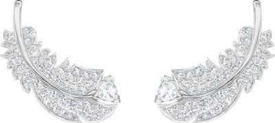Swarovski Feather Stud Pierced Earrings