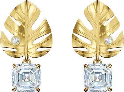 Swarovski Tropical Leaf Pierced Earrings