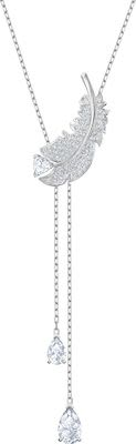 "Swarovski Feather ""Y"" Necklace"