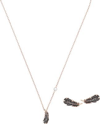 Swarovski Feather Jewellery Set