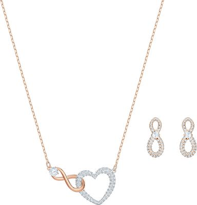 Swarovski Infinity Heart Jewellery Set