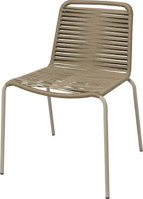 Alton chair, aluminium tube with rope