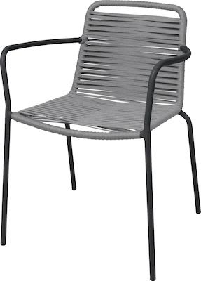 Alton armchair, aluminium tube with rope