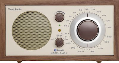 Tivoli Audio Model One BT AM / FM radio with Bluetooth, walnut/beige