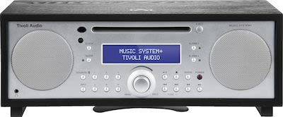 Tivoli Audio Music System+ DAB / FM all-in-one hi-fi system, black/silver