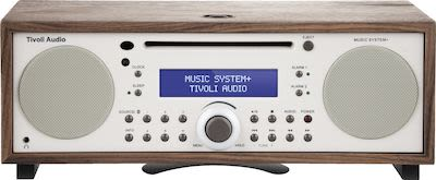 Tivoli Audio Music System+ DAB / FM all-in-one hi-fi system, walnut/beige