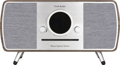 Tivoli Audio Music System Home with all-in-one smart system, walnut/grey