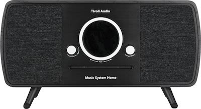 Tivoli Audio Music System Home with all-in-one smart system, black/black