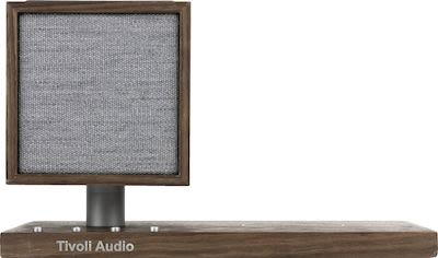 Tivoli Audio REVIVE Bluetooth Speaker with Wireless Charger and Lamp, walnut/grey