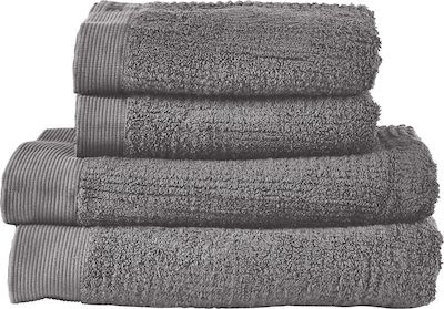 Zone Classic Bath Towel set 2 x 70x140 + 2 x 50x70cm. Grey