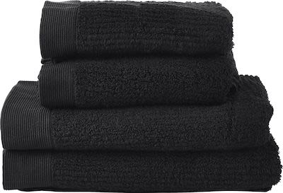 Zone Classic Bath Towel set 2 x 70x140 + 2 x 50x70cm. Black