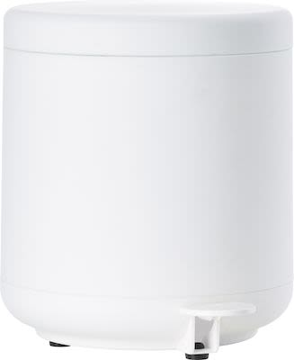 Zone Ume Pedal Bin, white ABS/Soft Touch