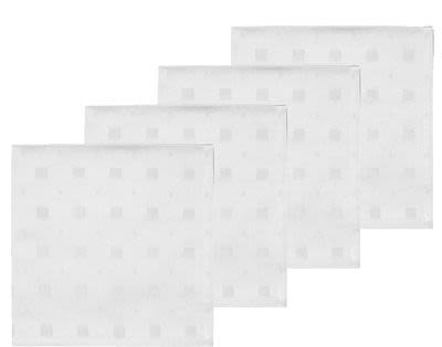 Södahl Squares Damask Napkin 45 x 45 cm 4 pcs Optical white