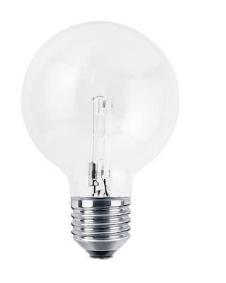 Lyngby Porcelain Globe LED bulb. Ø9,5 cm clear glass. Min buy 6 pcs.