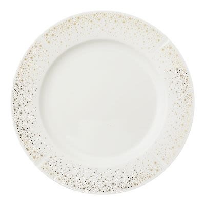 Rosendahl Moments Dinner Plate Ø27 cm white porcelain with gold. Min. buy 4 pcs.