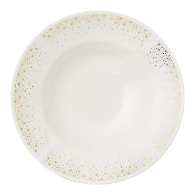 Rosendahl Moments Soup plate Ø25 cm white porcelain with gold. Min. buy 4 pcs.