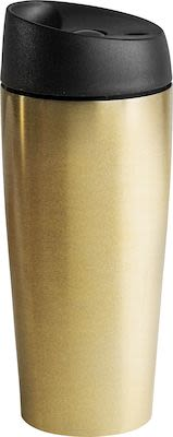 Sagaform Travel mug with lock button 40 cl, gold
