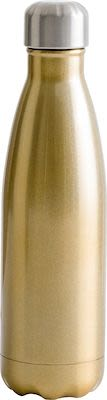 Sagaform Steel bottle 50 cl, gold