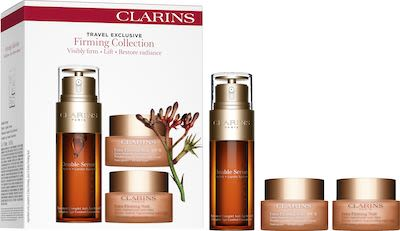 Clarins Extra Firming Double Serum Beauty Routine Face Care Set