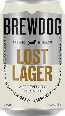 Brewdog Lost Lager 12x33 cl. cans. - Alc. 4,7% Vol.