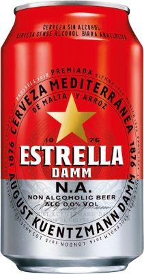 Estrella Free Damm Non Alcoholic 24x33 cl. cans.