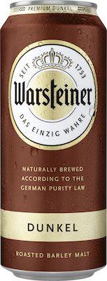 Warsteiner Premium Dunkel 24x50 cl. - Alc. 4,8% Vol. In cans.