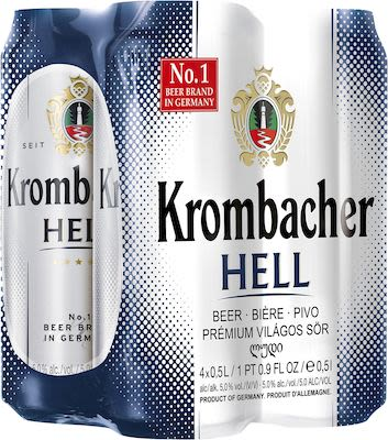 Krombacher Hell 24x50 cl. - Alc. 5% Vol. In cans.