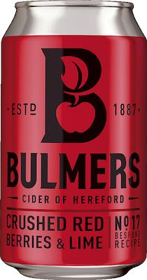 Bulmers Red Berries & Lime Cider 24x33 cl. - Alc. 4% Vol. In cans.