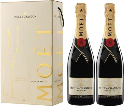 Moët & Chandon Brut Impérial Twinpack 2x75cl. - Alc. 12% Vol.In gift box.