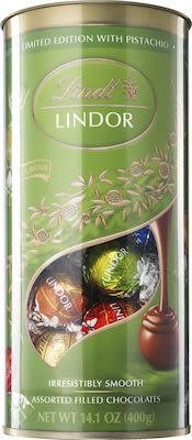 Lindt Lindor Tube with Pistachio 400g