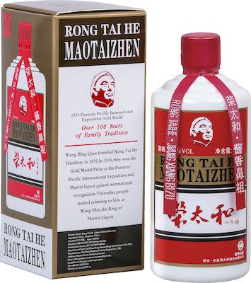 Rong Tai He Kweichow Maotai 50 cl. - Alc. 53% Vol.In gift box.