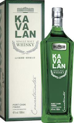 Kavalan Concertmaster Port Cask Finish, Taiwanese Single Malt Whisky 100 cl. - Alc. 40% Vol.In gift box.