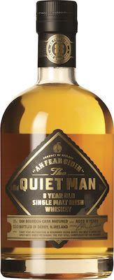 The Quiet Man 8 year Old Single Malt Irish Whiskey in tube 70 cl. - Alc.  40 % Vol.
