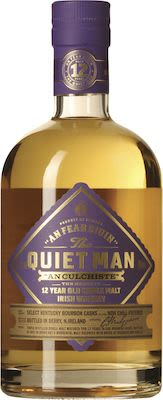 The Quiet Man 12 year old Single Malt in tube 70 cl. - Alc.  40 % Vol.