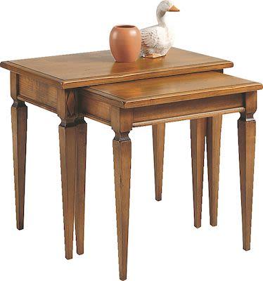 Selva Villa Borghese Double-nested tables, W66xD40xH56cm