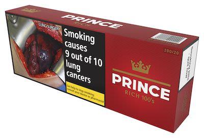 Prince Rich Taste 100s 200 pcs