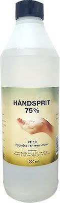 Liquid hand sanitizer alcohol 75% - 100 cl.