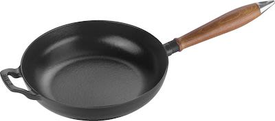 Staub Vintage cast iron frying pan with wooden handle 24cm