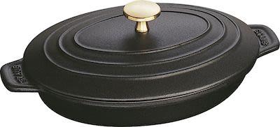 Staub Sur la Table Minis cast iron oven dish with lid oval. W28,7 x D17,8 x H9,5 cm.