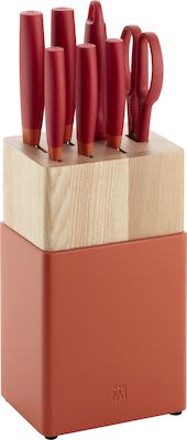 ZWILLING Now S Knife block set 8 pcs, red