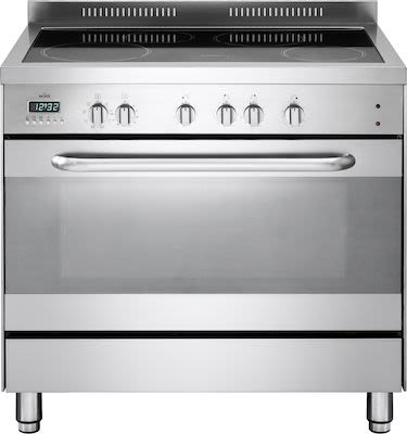 Witt induction stove, stainless steel, 90 cm