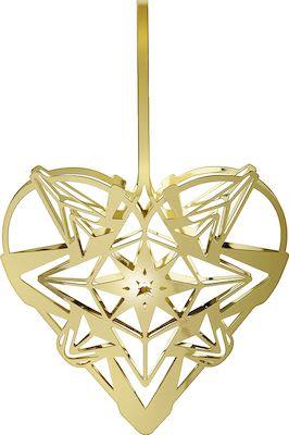 Rosendahl Karen Blixen Heart Pendant H12,8 cm. Gold plated