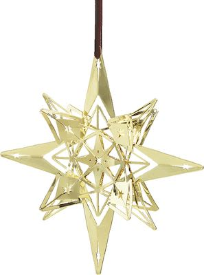 Rosendahl Karen Blixen Star Pendant Ø13 cm. Gold plated
