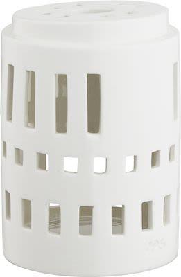 Kähler Urbania Lighthouse Classical, white ceramics H9,5 cm.